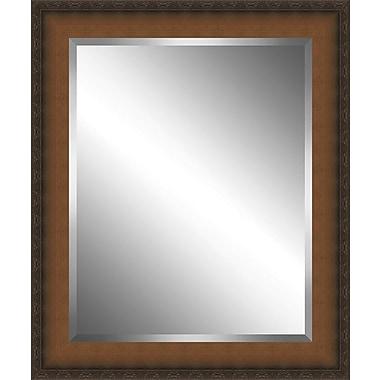 Ashton Wall D cor LLC Country Wood Framed Beveled Plate Glass Mirror; XX Large