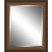 Ashton Wall D cor LLC Country Wood Framed Beveled Plate Glass Mirror; Large
