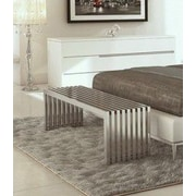 UrbanMod Luxe Metal Bedroom Bench
