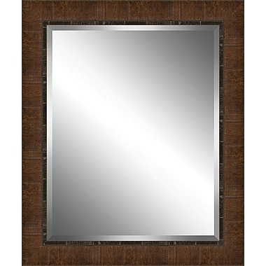Ashton Wall D cor LLC Wood Paneled Effect Framed Plate Glass Mirror; X Large