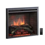 Puraflame 33'' Black 750/1500W Western Wall Mount Electric Fireplace Insert; 26''