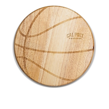 Picnic Time NCAA Free Throw Cutting Board; Cal Poly Mustangs