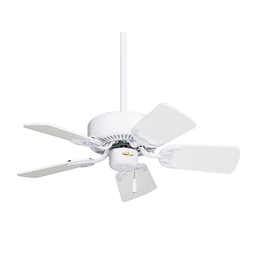 Emerson Fans 29'' Northwind 5 Blade Fan; Appliance White with White/Bleached Oak Blades