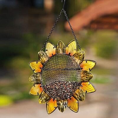 Evergreen Flag & Garden Sunflower Decorative Bird Feeder (WYF078277173627) photo