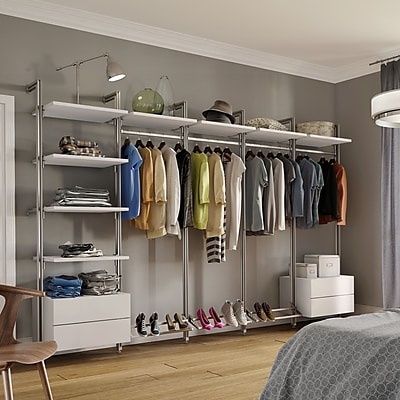 Space Pro Relax 127''W Closet System; White