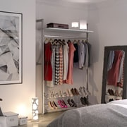 Space Pro Relax 51''W Closet System; White