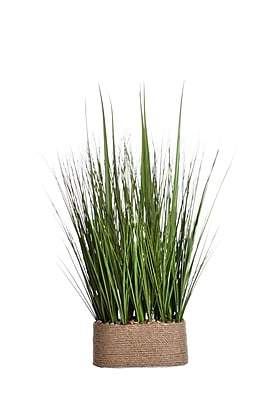 """Laura Ashley 28"""" Tall Onion Grass in Hemp 23""""W x 15""""D Rope Container (VHA102435)"""