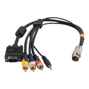 C2G ® RapidRun ® 60018 1.5' VGA/Mini-Phone Audio/Video Cable, Black