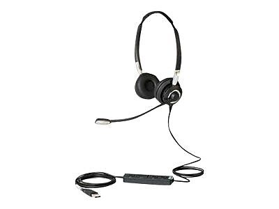 Jabra ® 2499-829-309 BIZ 2400 II Wired Supra-Aural Stereo Headset, Black