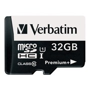 Verbatim® 98741 PremiumPlus UHS-I Class 10 32GB microSDHC Memory Card with Adapter