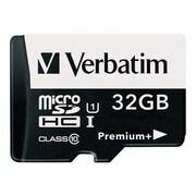 Verbatim® 98741 PremiumPlus UHS-I Class 10 32GB microSDHC Memory Card with Adapter