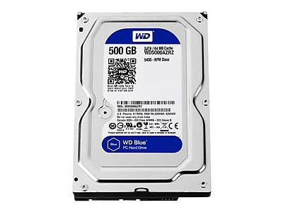 Western Digital ® Blue WD5000AZRZ 500GB SATA 6 Gbps Internal Hard Drive