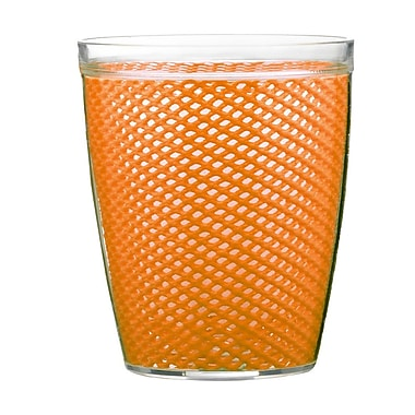 Kraftware Fishnet Double Wall Insulated Tumbler II (Set of 4); Spice Orange
