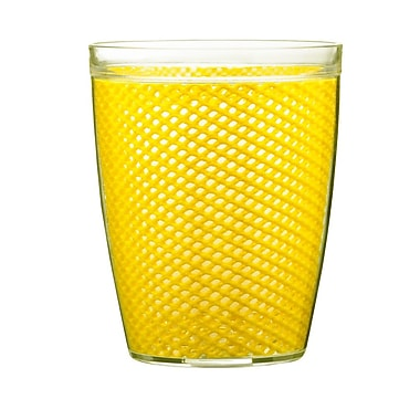 Kraftware Fishnet Double Wall Insulated Tumbler II (Set of 4); Yellow
