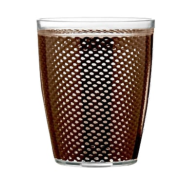 Kraftware Fishnet Double Wall Insulated Tumbler II (Set of 4); Chocolate