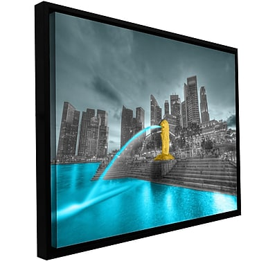 ArtWall 'Singapore' by Revolver Ocelot Framed Photographic Print on Wrapped Canvas; 24'' H x 36'' W