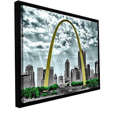 ArtWall 'St. Louis' by Revolver Ocelot Framed Photographic Print on Wrapped Canvas; 16'' H x 24'' W