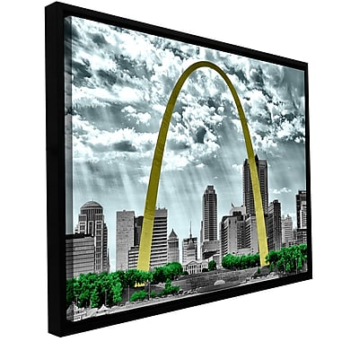 ArtWall 'St. Louis' by Revolver Ocelot Framed Photographic Print on Wrapped Canvas; 32'' H x 48'' W
