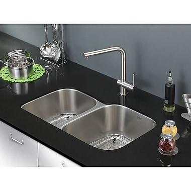 Ruvati Parmi 32'' x 21'' Undermount Double Bowl Kitchen Sink