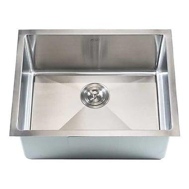 eModern Decor Ariel 23'' x 18'' Single Bowl Undermount Kitchen Sink