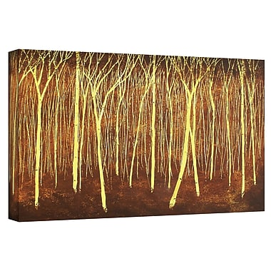 ArtWall 'Faithful Light' by Herb Dickinson Painting Print on Wrapped Canvas; 24'' H x 48'' W