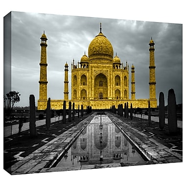 ArtWall 'Taj Mahal' by Revolver Ocelot Photographic Print on Wrapped Canvas; 12'' H x 18'' W