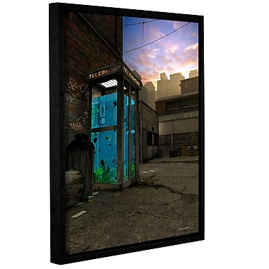ArtWall Phone Booth by Cynthia Decker Framed Photographic Print on Wrapped Canvas; 24'' H x 18'' W