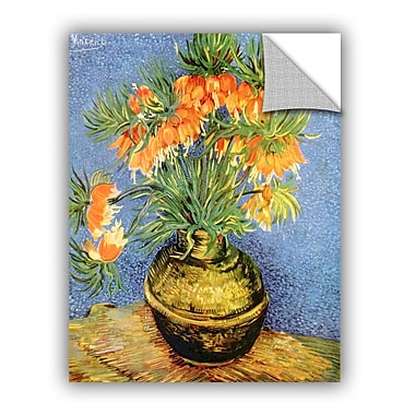 ArtWall Fritillaries by Vincent Van Gogh Art Appeelz Removable Wall Mural; 18'' H x 14'' W x 0.1'' D