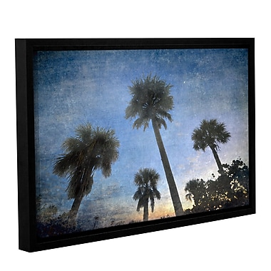 ArtWall Palms At Sunset by Antonio Raggio Framed Graphic Art on Wrapped Canvas; 16'' H x 24'' W