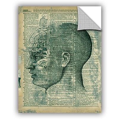ArtWall Right Brain Thinker by Elena Ray Art Appeelz Removable Wall Mural; 32'' H x 24'' W x 0.1'' D