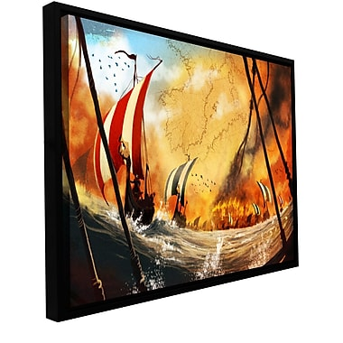 ArtWall 'Old Times 2' by Luis Peres Framed Graphic Art on Wrapped Canvas; 24'' H x 48'' W