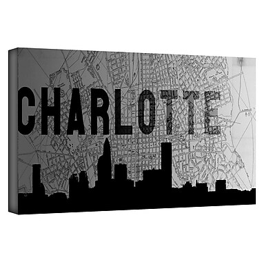 ArtWall 'Charlotte' by Art Sandcraft GGraphic Art on Wrapped Canvas; 24'' H x 48'' W