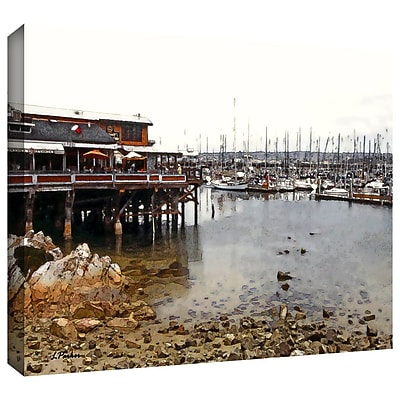 ArtWall 'Old Fishermans Wharf California' by Linda Parker Photographic Print on Wrapped Canvas
