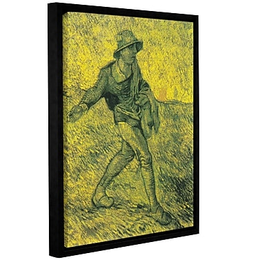 ArtWall The Sower by Vincent Van Gogh Framed Painting Print on Wrapped Canvas; 32'' H x 24'' W