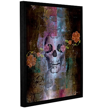 ArtWall 'Skull' by Greg Simanson Framed Painting Print on Wrapped Canvas; 18'' H x 14'' W