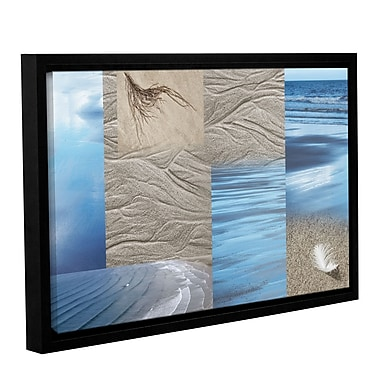 ArtWall 'Sand Sea' by Cora Niele Framed Graphic Art on Wrapped Canvas; 32'' H x 48'' W