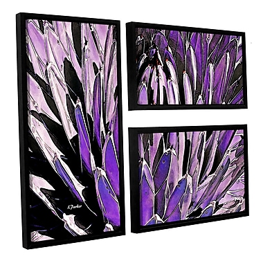 ArtWall 'Queen Victoria Agave' by Linda Parker 3 Piece Framed Photographic Print on Canvas Set