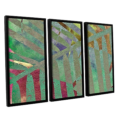 ArtWall 'Leaf Shades II' by Cora Niele 3 Piece Framed Graphic Art on Wrapped Canvas Set