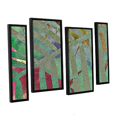 ArtWall 'Leaf Shades II' by Cora Niele 4 Piece Framed Graphic Art on Wrapped Canvas Set