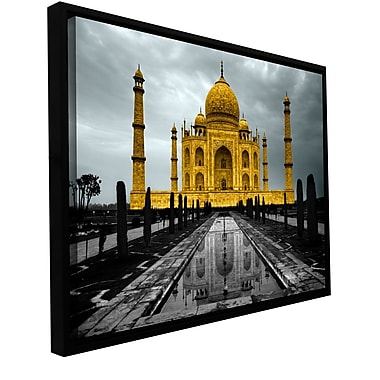 ArtWall 'Taj Mahal' by Revolver Ocelot Framed Photographic Print on Wrapped Canvas; 32'' H x 48'' W