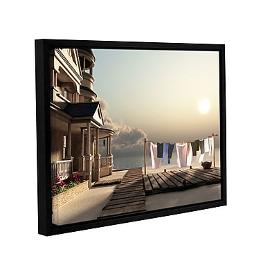 ArtWall Laundry Day by Cynthia Decker Framed Graphic Art on Wrapped Canvas; 36'' H x 48'' W