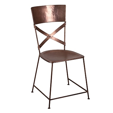 Wildon Home X-Back Dining Chair; Copper