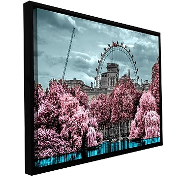 ArtWall 'London II' by Revolver Ocelot Framed Graphic Art on Wrapped Canvas; 12'' H x 24'' W