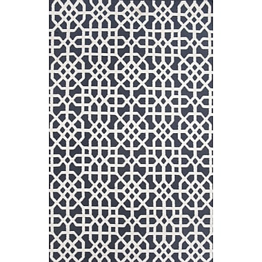 Tuft & Loom Tile Indigo/Cream Indoor/Outdoor Hand Woven Area Rug; 3'6'' x 5'6''
