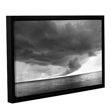ArtWall Lake Erie Storm by Dan Wilson Framed Photographic Print on Wrapped Canvas; 16'' H x 24'' W