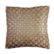 Edie Inc. Basket Weave Cord Throw Pillow; Antique Gold