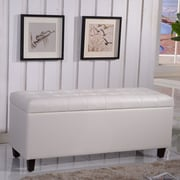 NOYA USA Classic Storage Bench; White