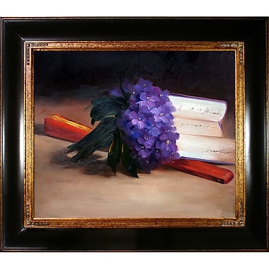 Tori Home Bouquet of Violets by Edouard Manet Framed Painting Print on Wrapped Canvas