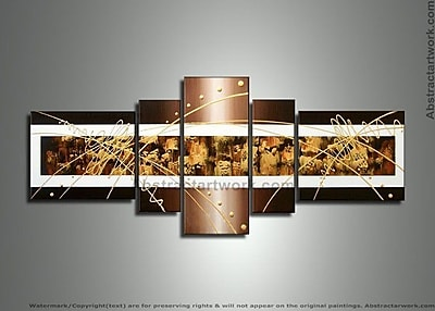DesignArt Textured Abstract 5 Piece Painting on Canvas Set WYF078277972384