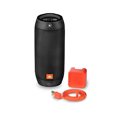 JBL – Haut-parleur Bluetooth portable Pulse 2 avec jeu de lumières interactif, noir